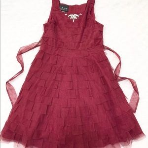 Biscotti Dress Red Sz 12 Girls NEW Without Tag